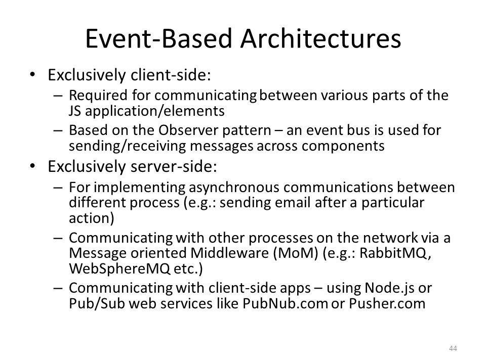 Event-Based Architectures