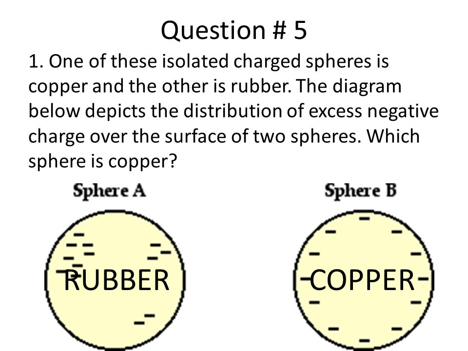 RUBBER COPPER Question # 5