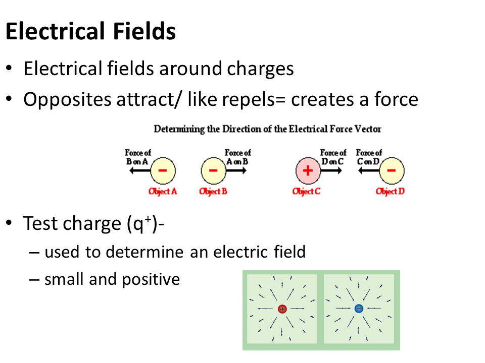 Electrical Fields Electrical fields around charges