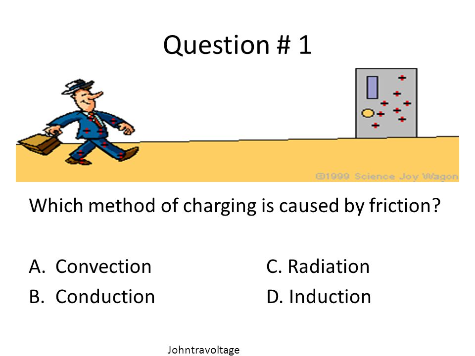 Question # 1 Which method of charging is caused by friction