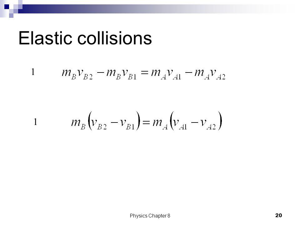 Elastic collisions 1 1 Physics Chapter 8