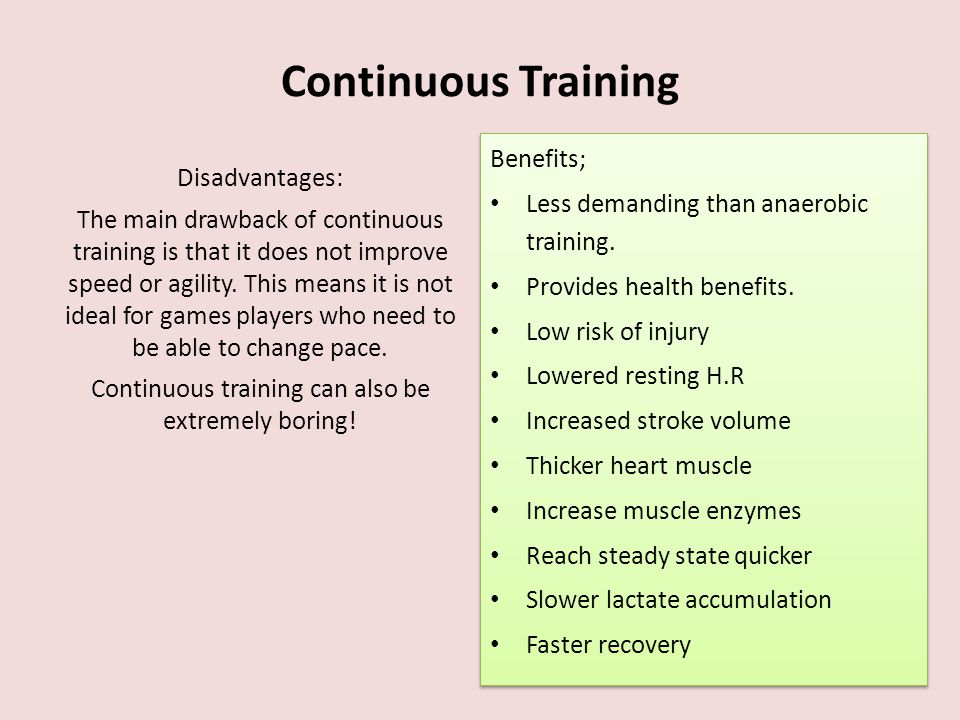 Continuous training can also be extremely boring!