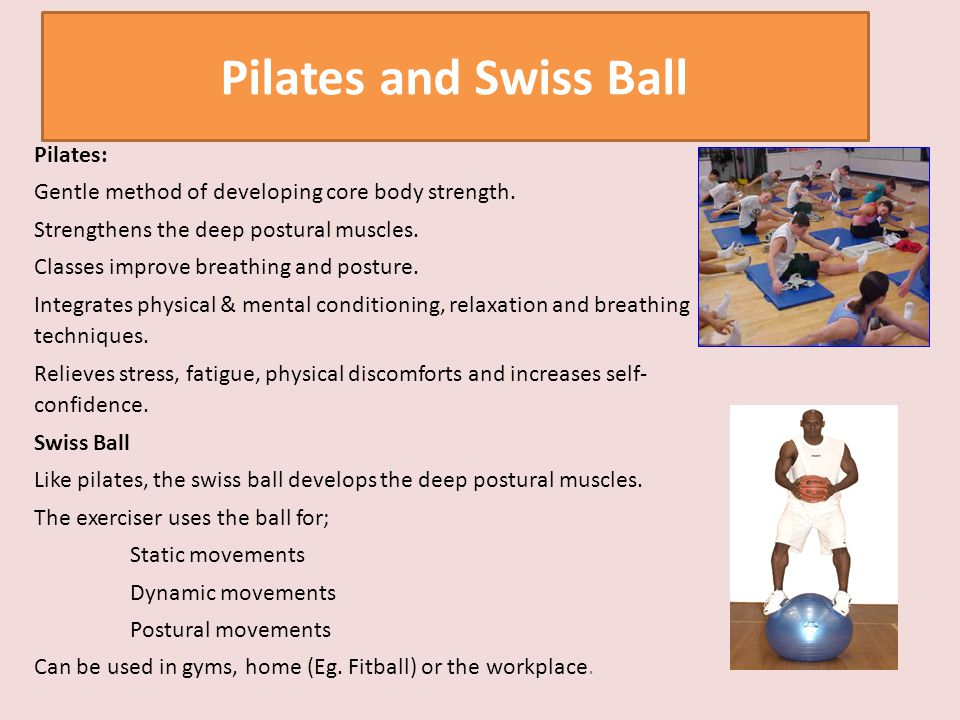 Pilates and Swiss Ball Pilates: