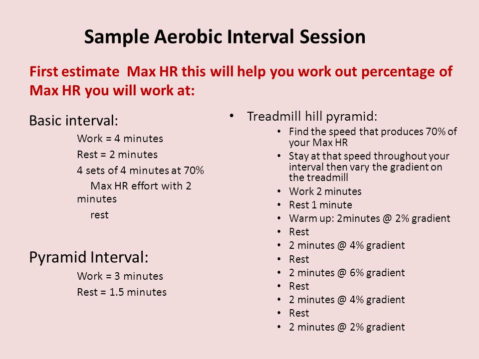 Sample Aerobic Interval Session