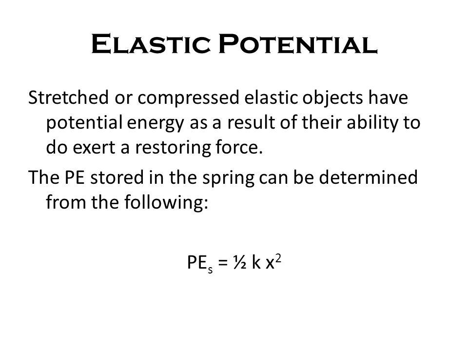 Elastic Potential