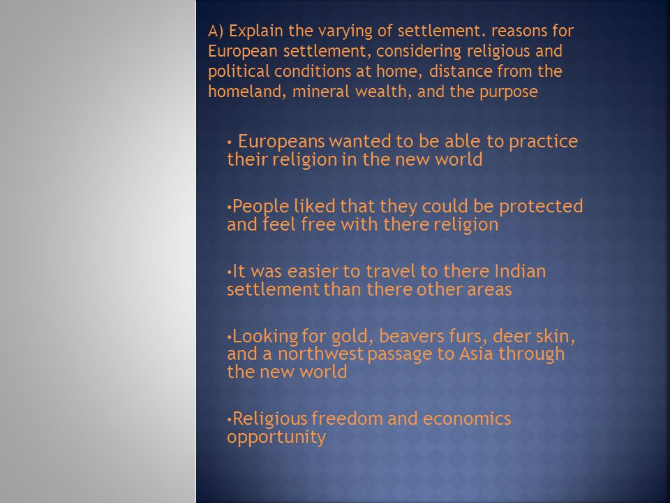 Religious freedom and economics opportunity