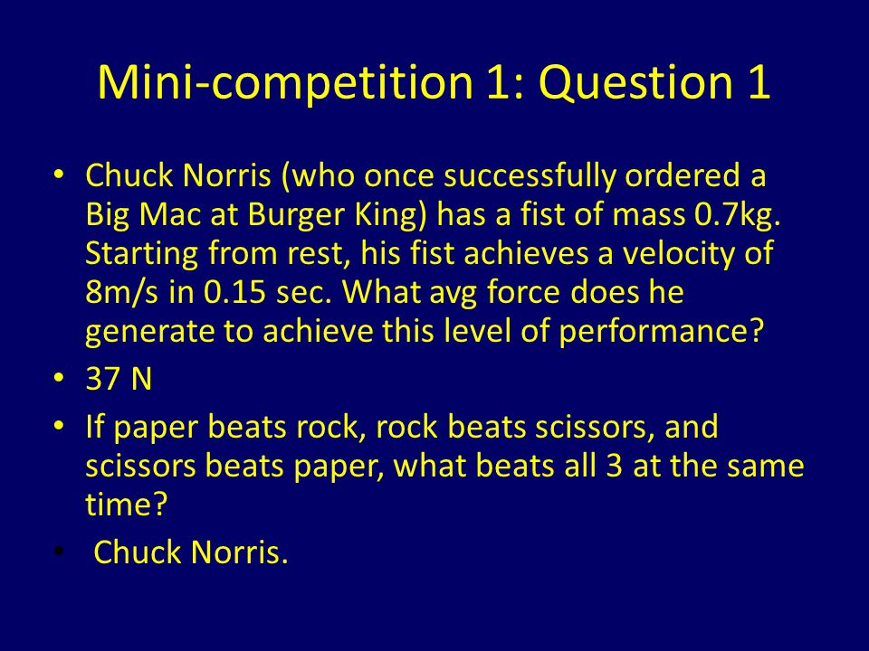 Mini-competition 1: Question 1