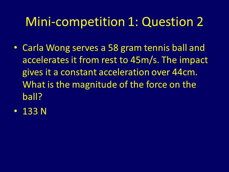 Mini-competition 1: Question 2