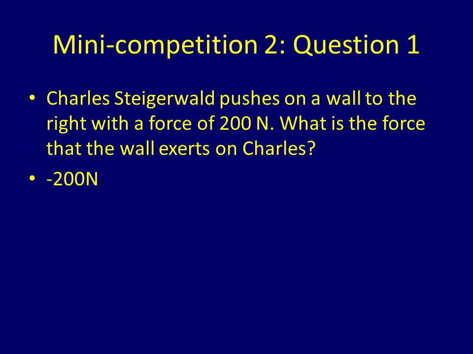 Mini-competition 2: Question 1