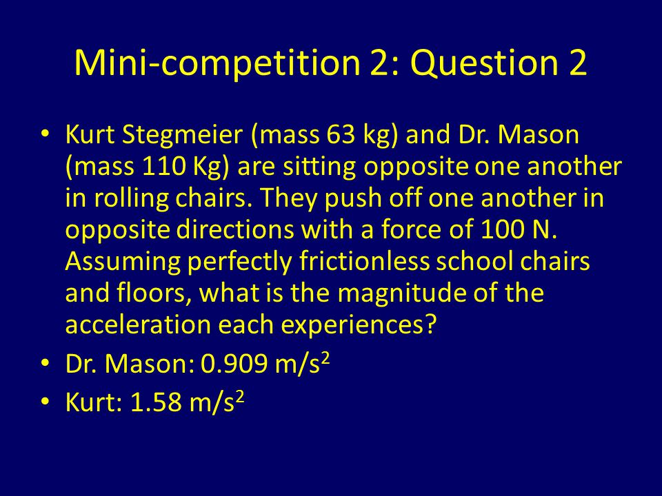 Mini-competition 2: Question 2