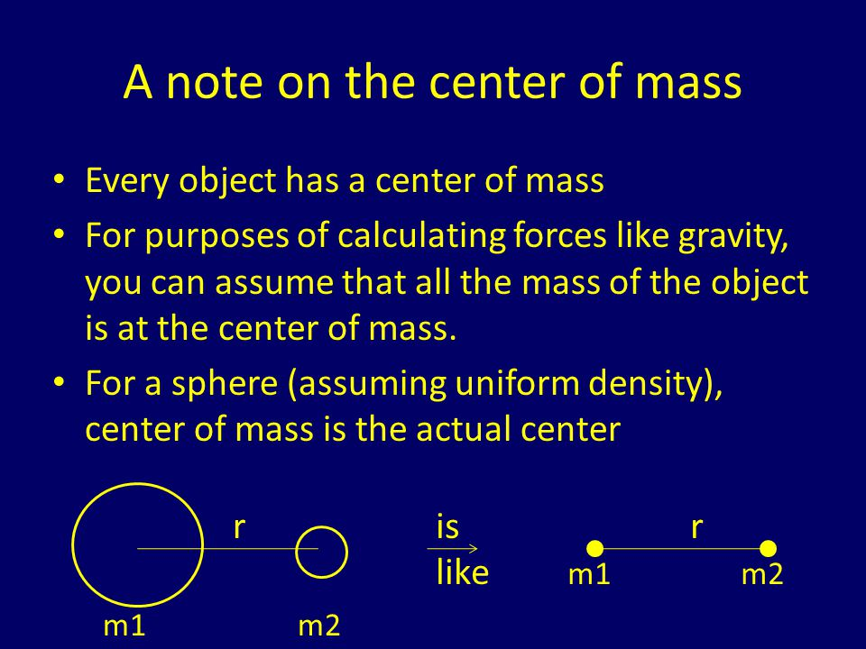 A note on the center of mass