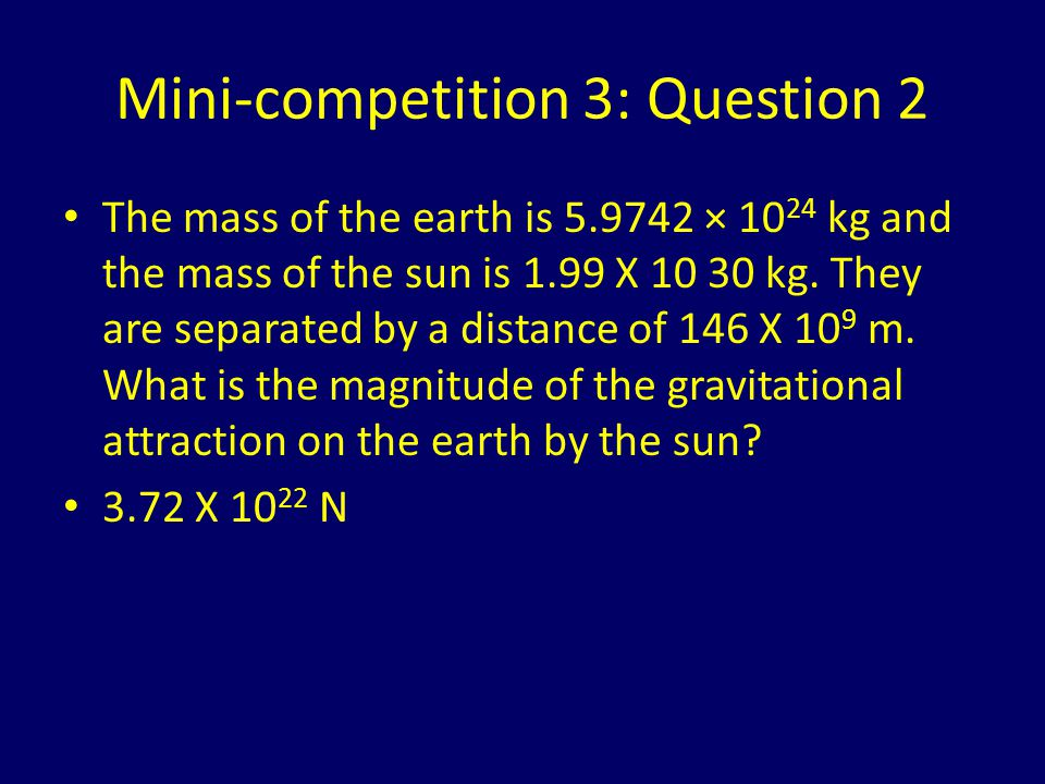 Mini-competition 3: Question 2