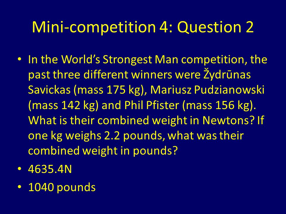 Mini-competition 4: Question 2