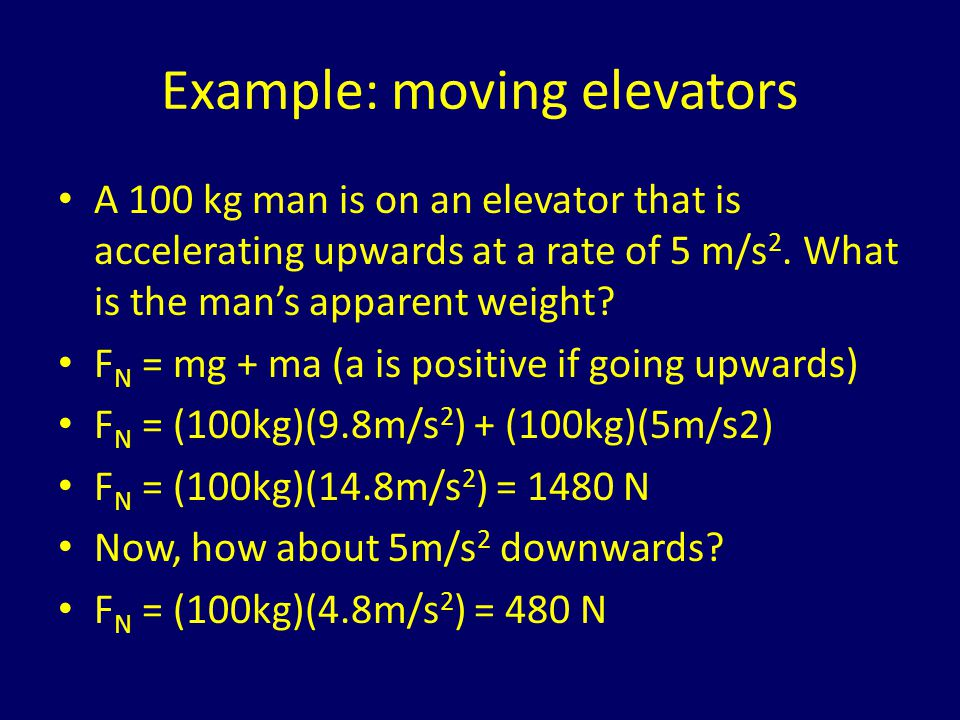 Example: moving elevators