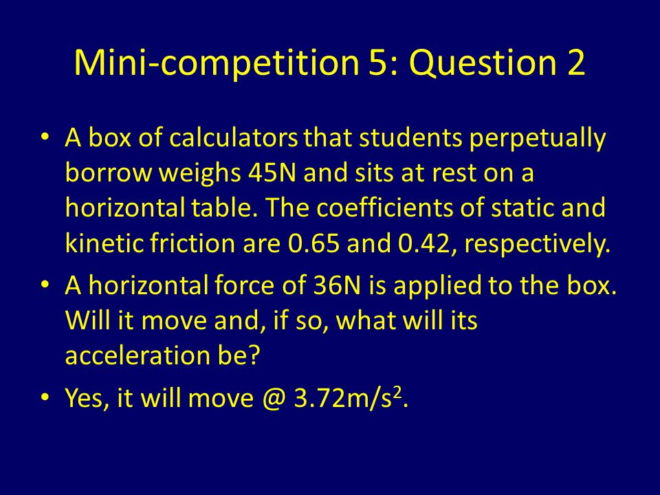 Mini-competition 5: Question 2
