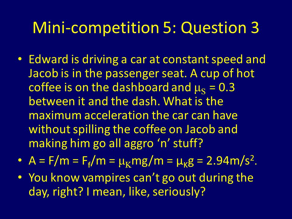 Mini-competition 5: Question 3