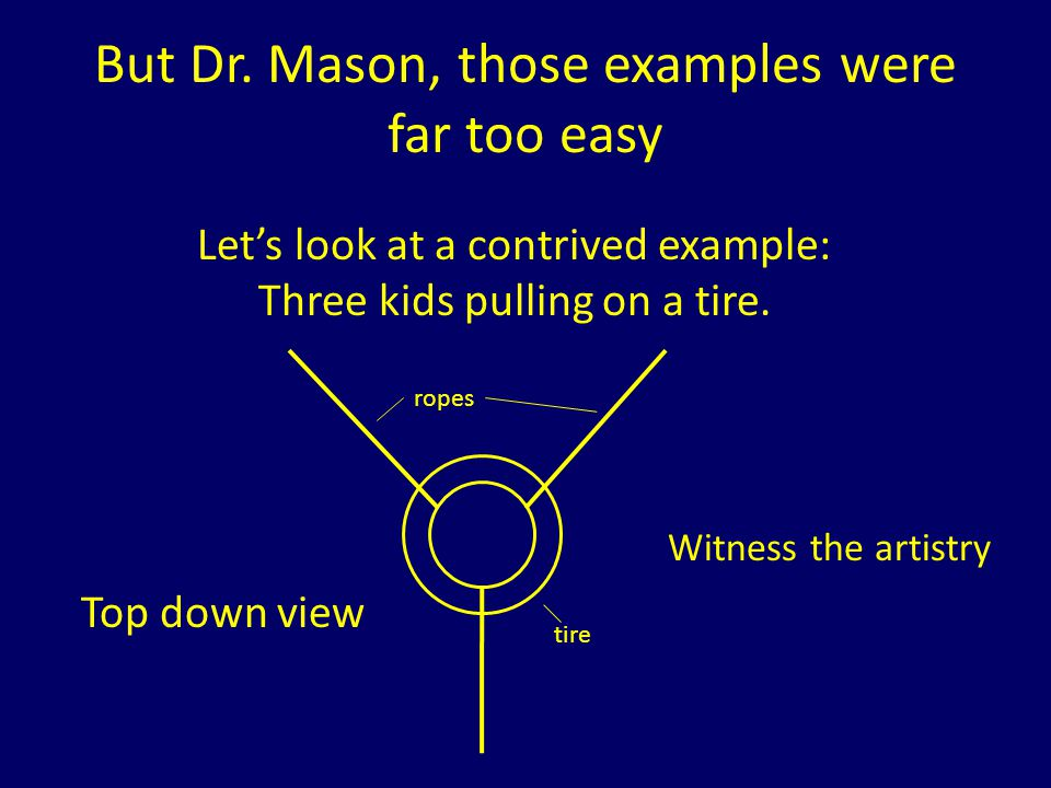 But Dr. Mason, those examples were far too easy