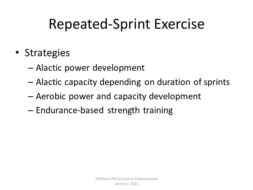 Repeated-Sprint Exercise