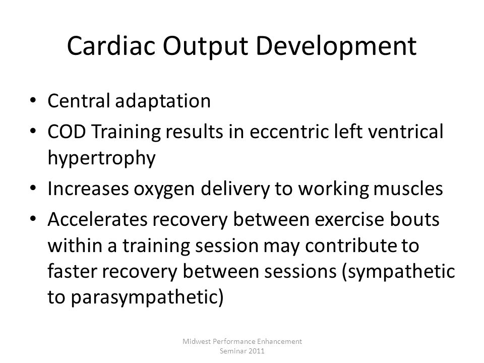 Cardiac Output Development
