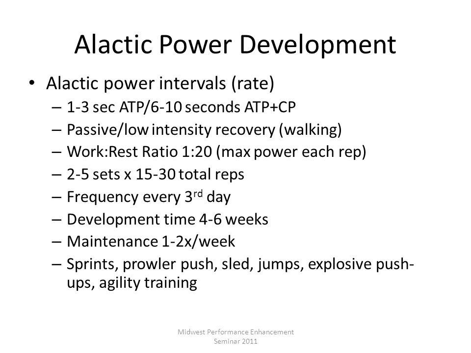 Alactic Power Development