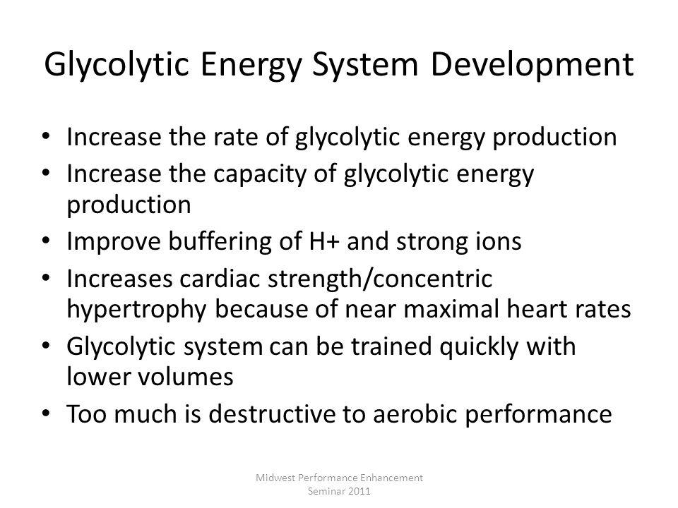 Glycolytic Energy System Development