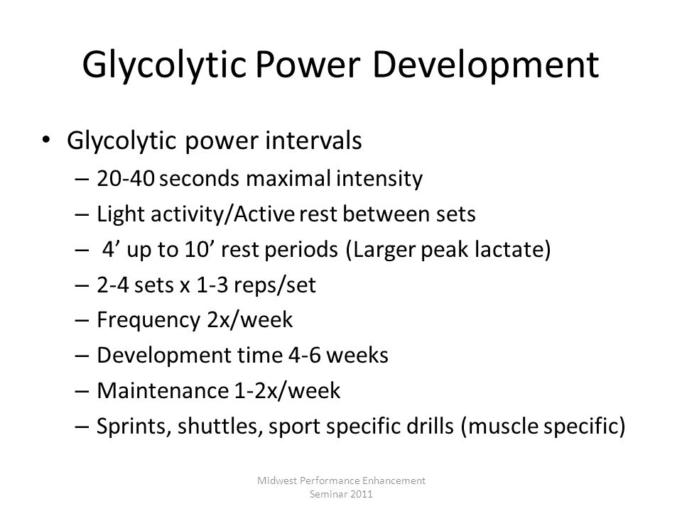 Glycolytic Power Development