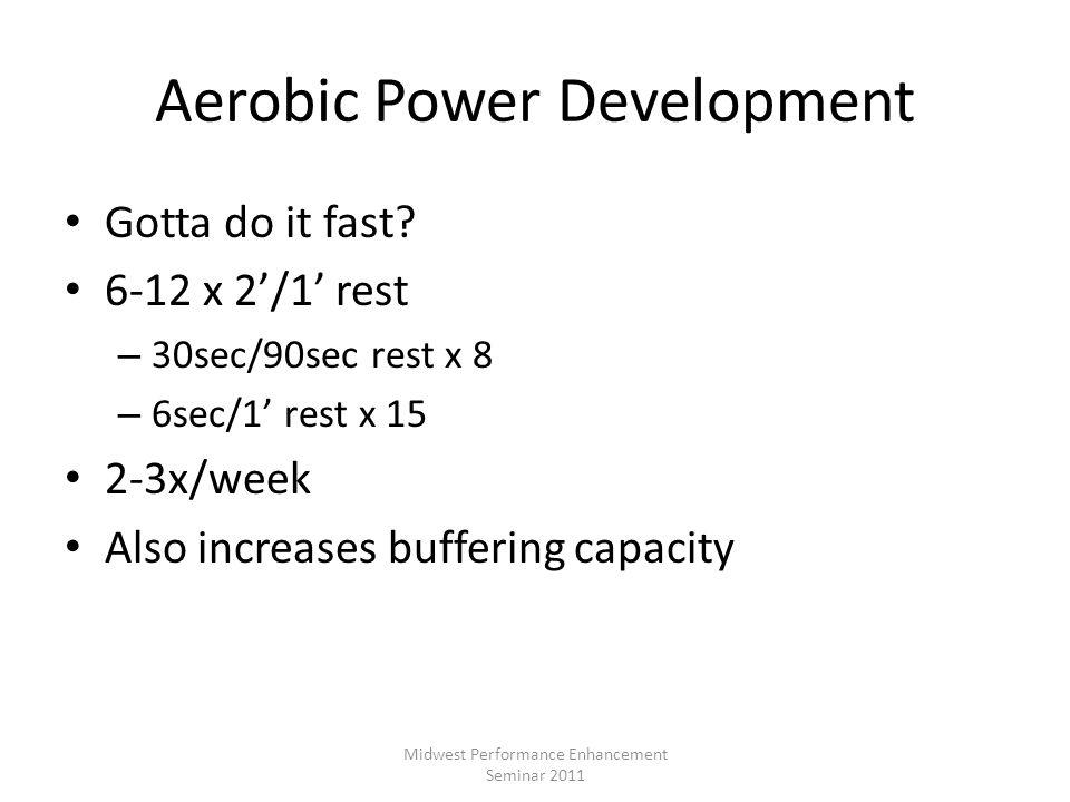 Aerobic Power Development