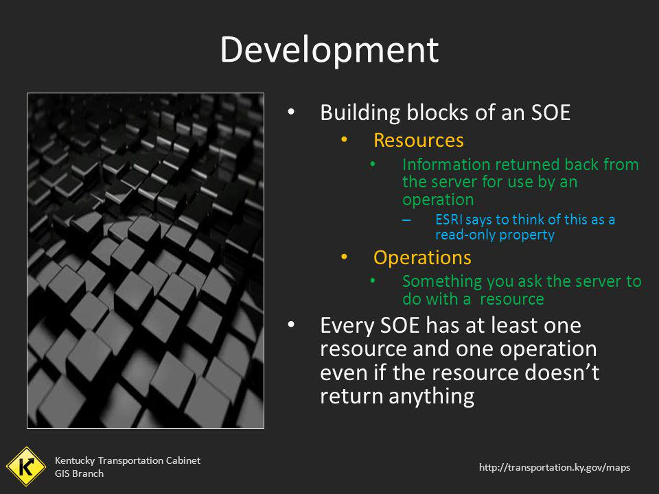 Development Building blocks of an SOE