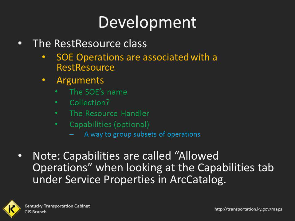 Development The RestResource class