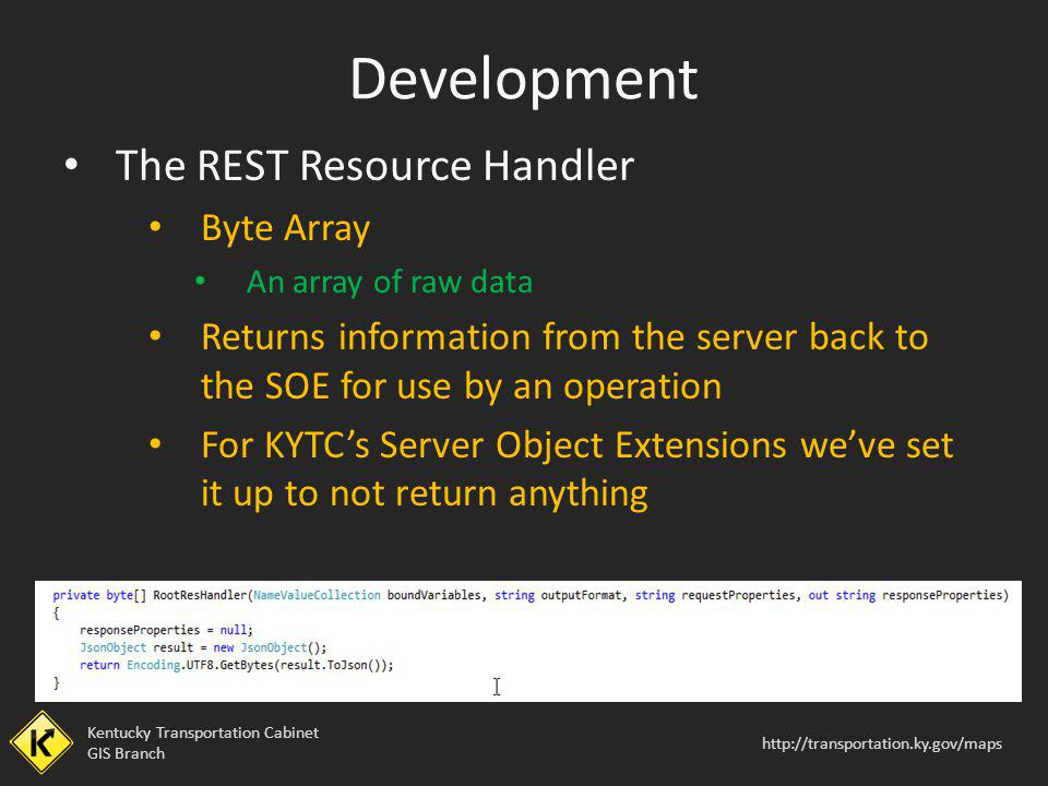 Development The REST Resource Handler Byte Array