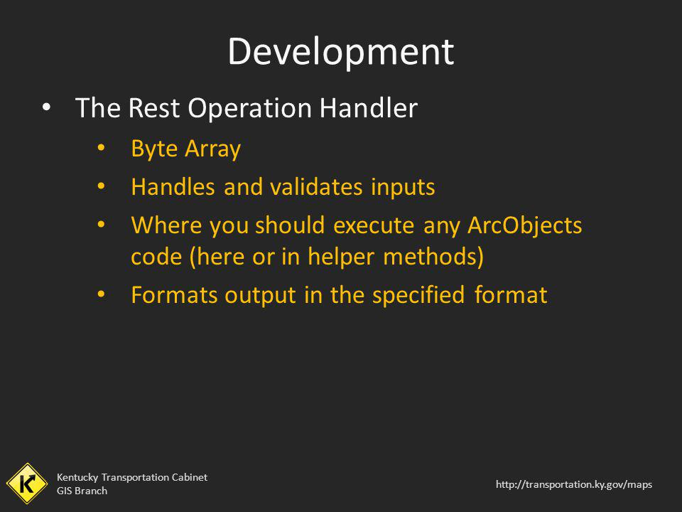 Development The Rest Operation Handler Byte Array