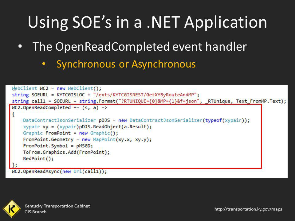 Using SOE's in a .NET Application