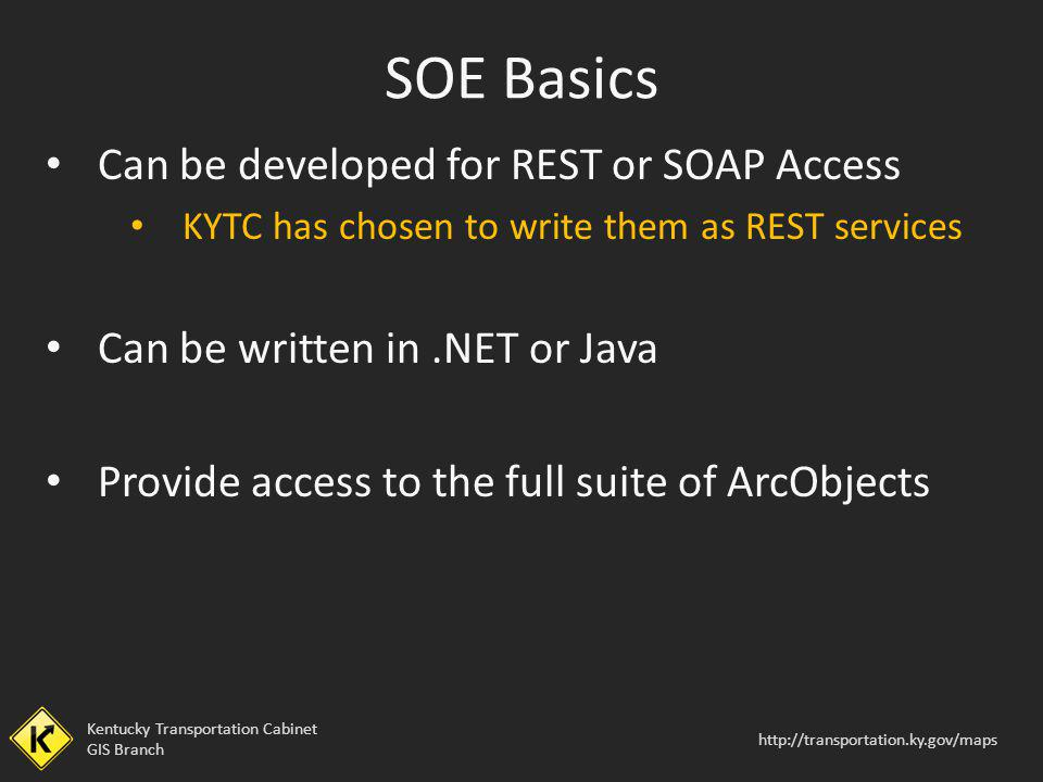 SOE Basics Can be developed for REST or SOAP Access