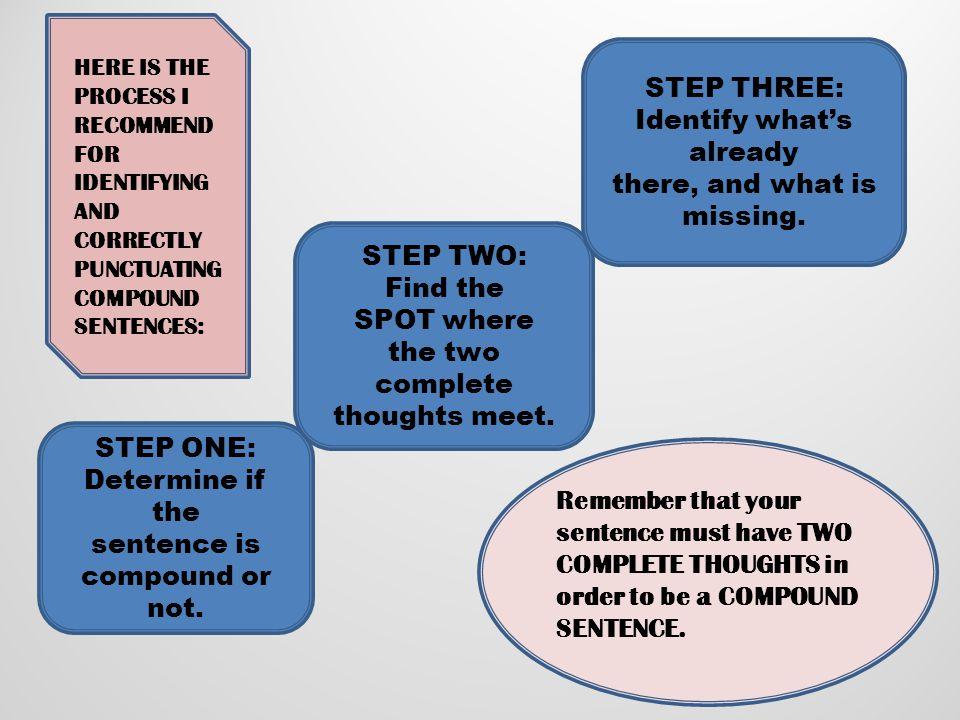 STEP THREE: Identify what's already