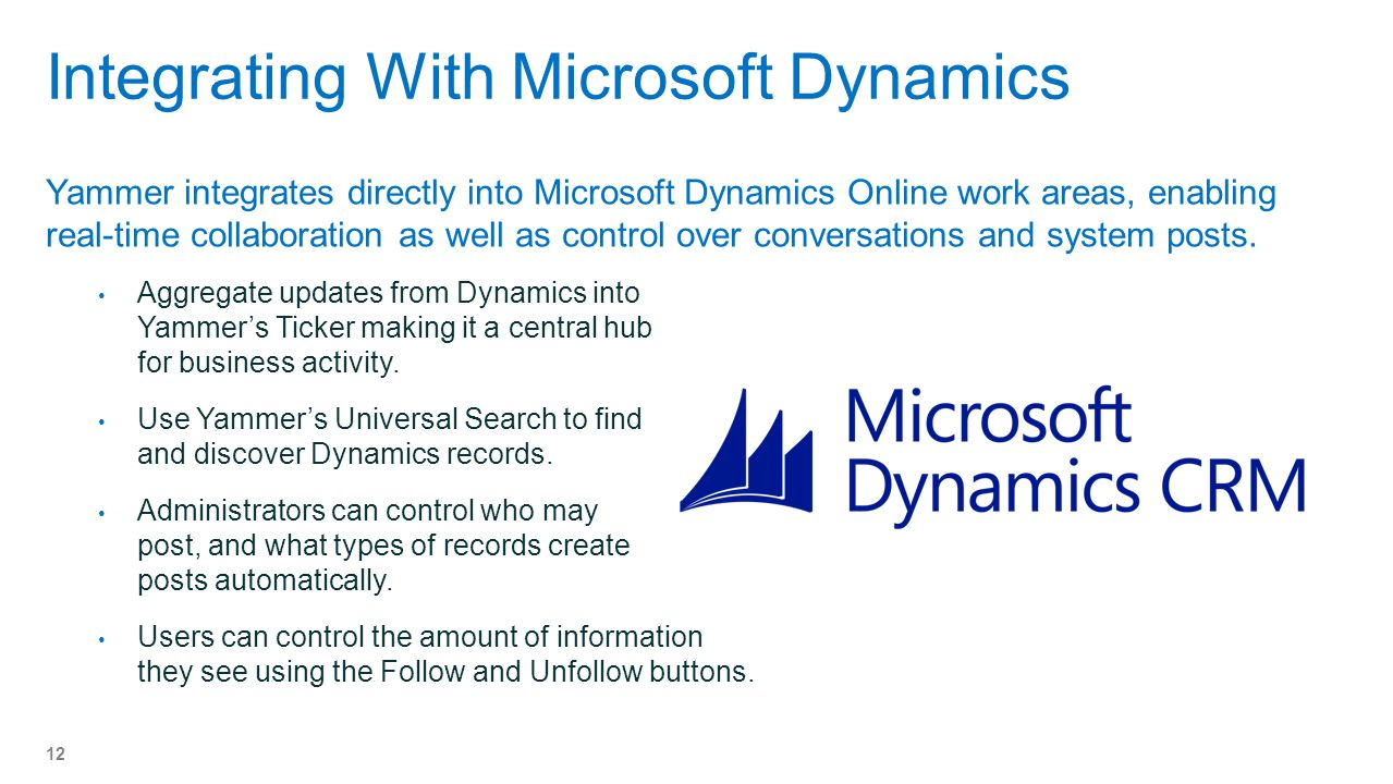 Integrating With Microsoft Dynamics