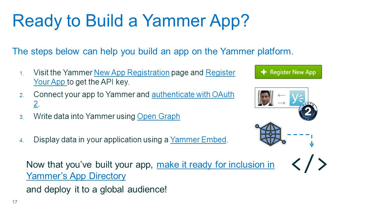 Ready to Build a Yammer App