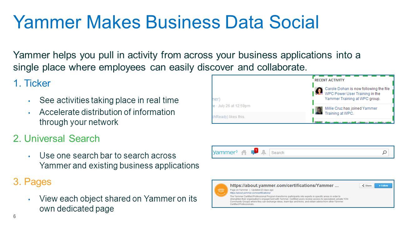 Yammer Makes Business Data Social