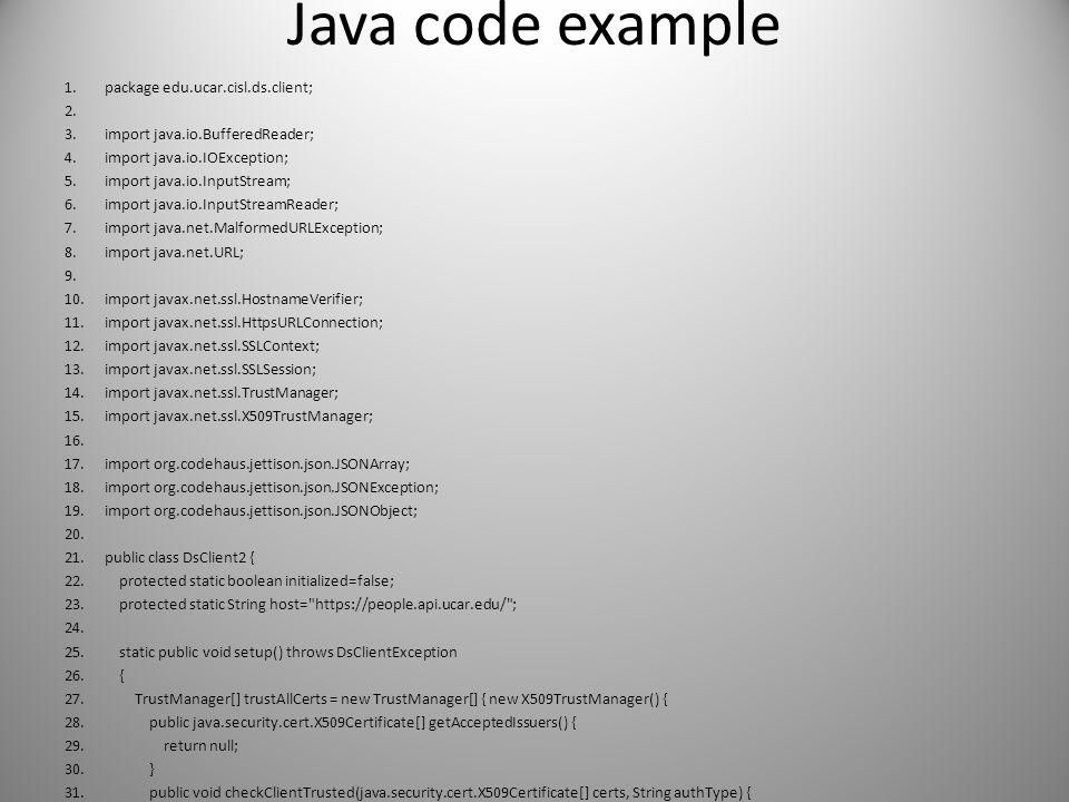 Java code example package edu.ucar.cisl.ds.client;
