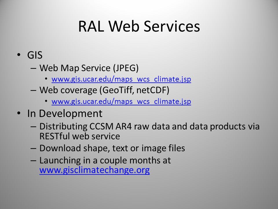 RAL Web Services GIS In Development Web Map Service (JPEG)