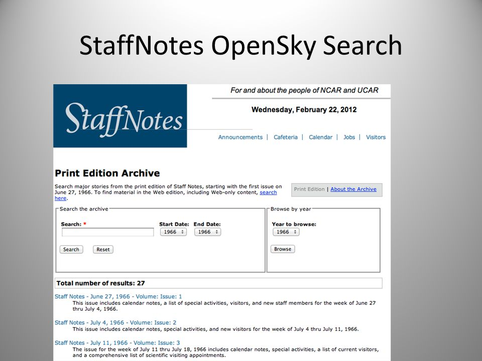 StaffNotes OpenSky Search