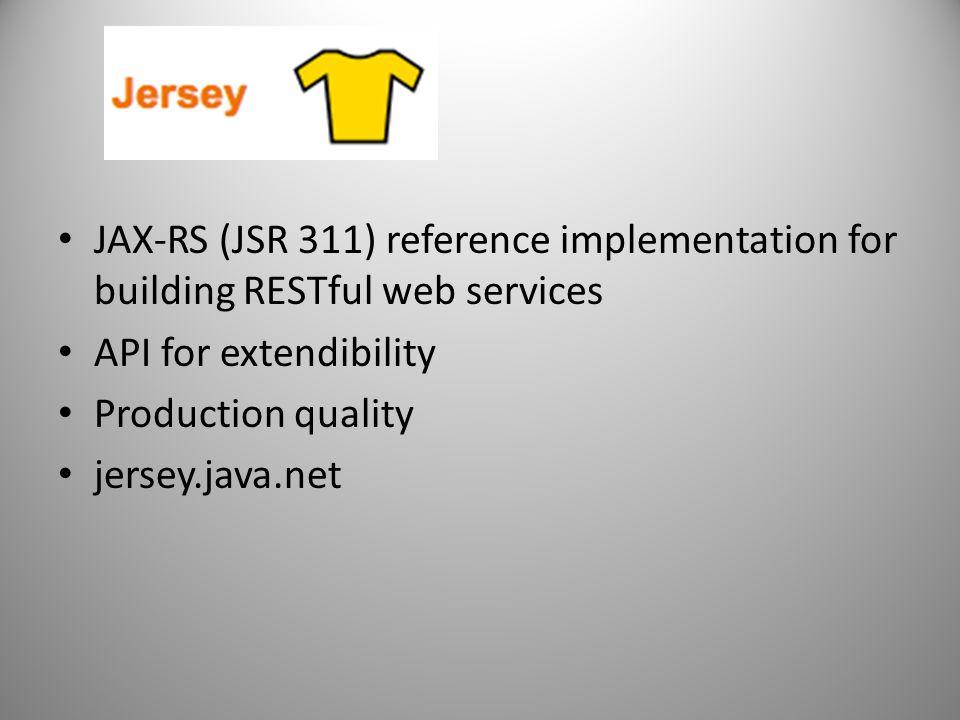 JAX-RS (JSR 311) reference implementation for building RESTful web services