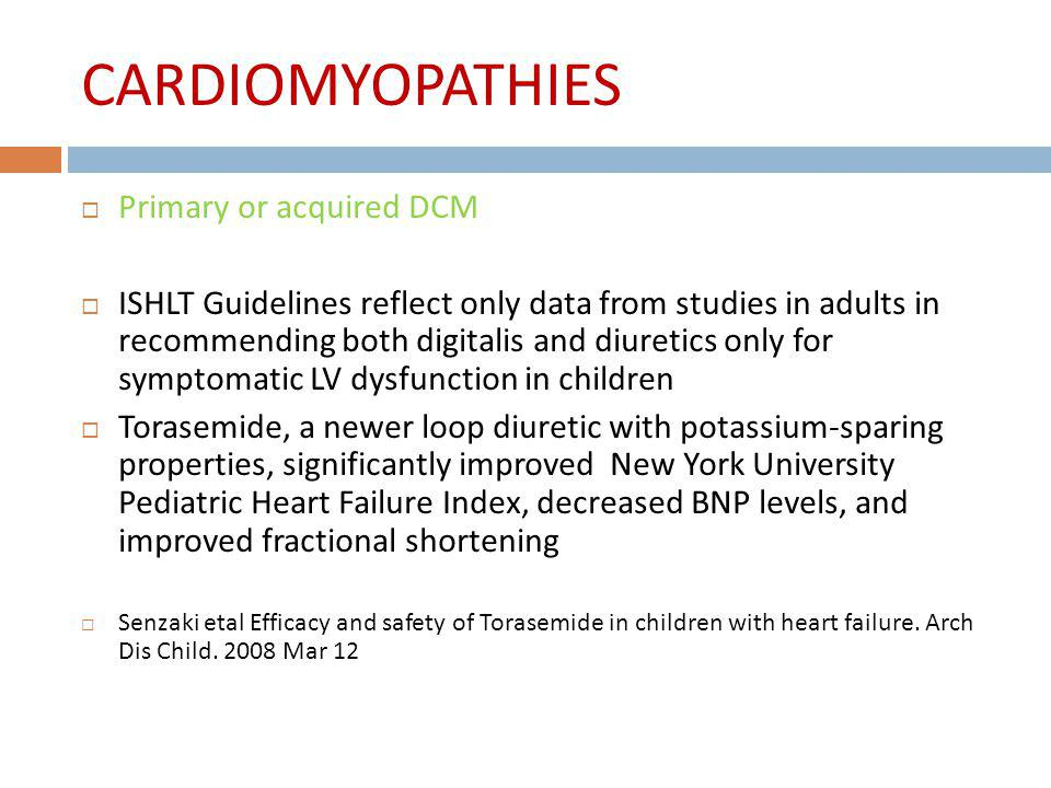 CARDIOMYOPATHIES Primary or acquired DCM