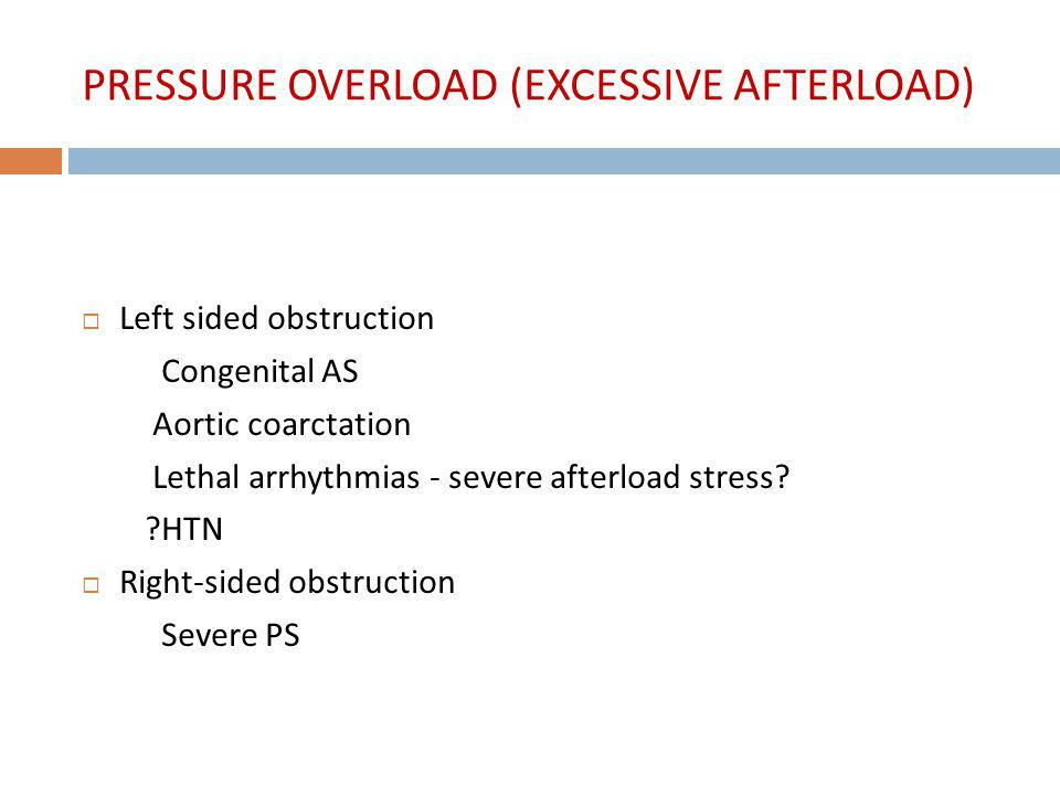 PRESSURE OVERLOAD (EXCESSIVE AFTERLOAD)