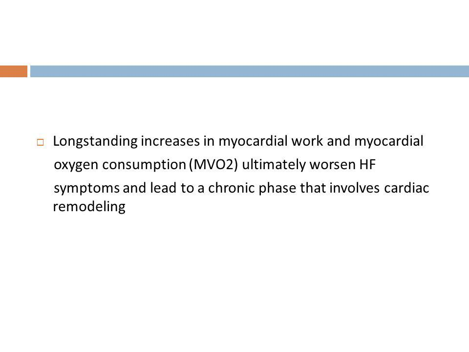 Longstanding increases in myocardial work and myocardial