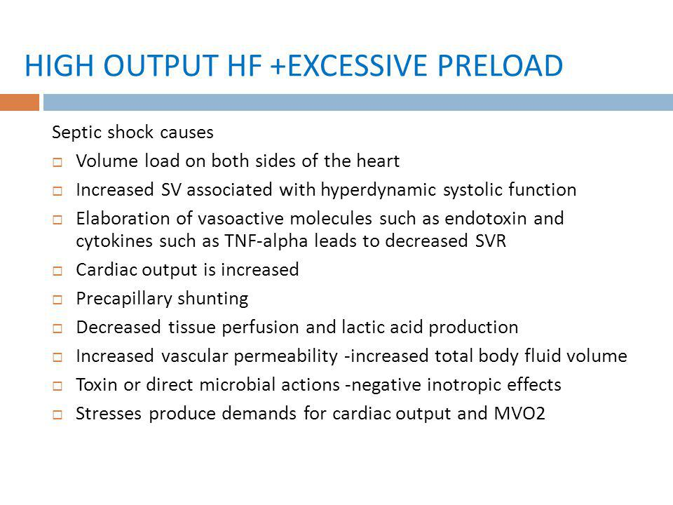 HIGH OUTPUT HF +EXCESSIVE PRELOAD