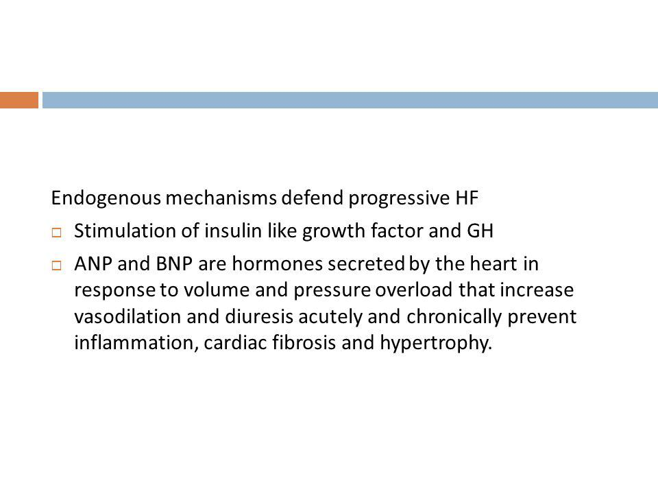 Endogenous mechanisms defend progressive HF
