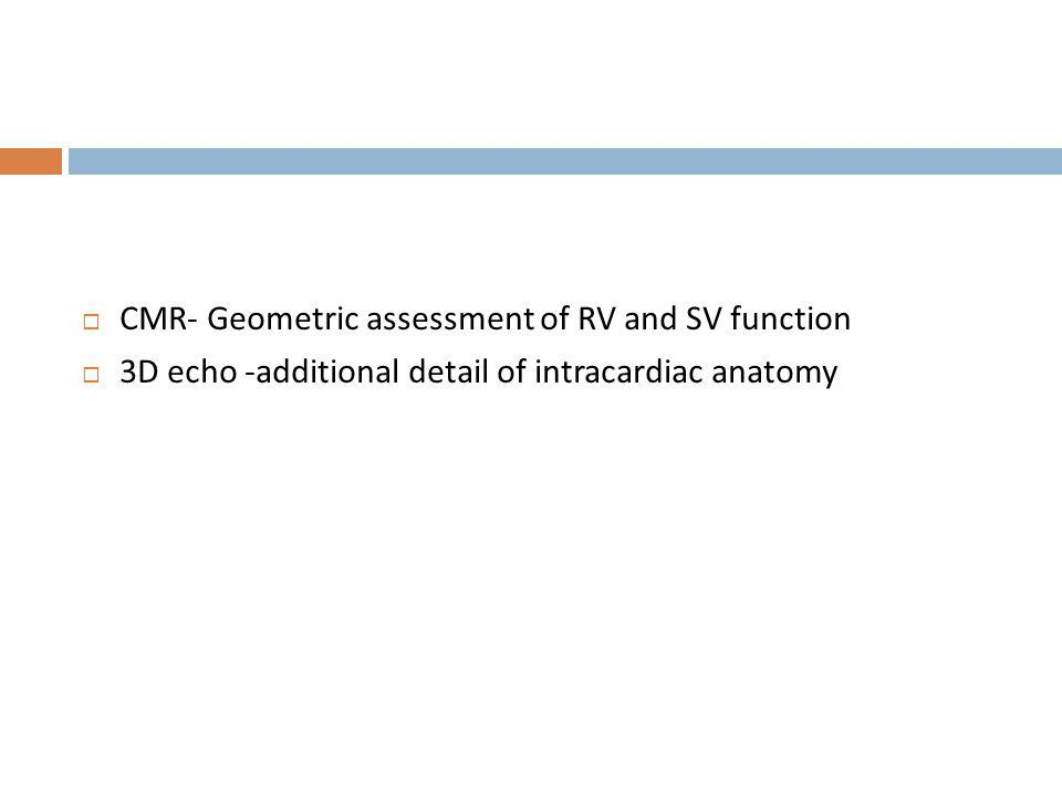 CMR- Geometric assessment of RV and SV function