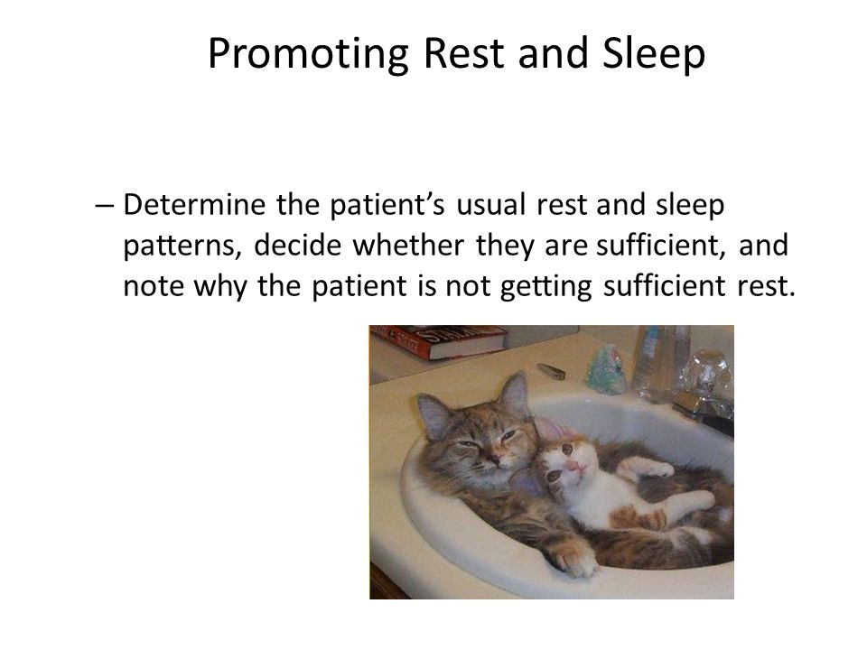 Promoting Rest and Sleep
