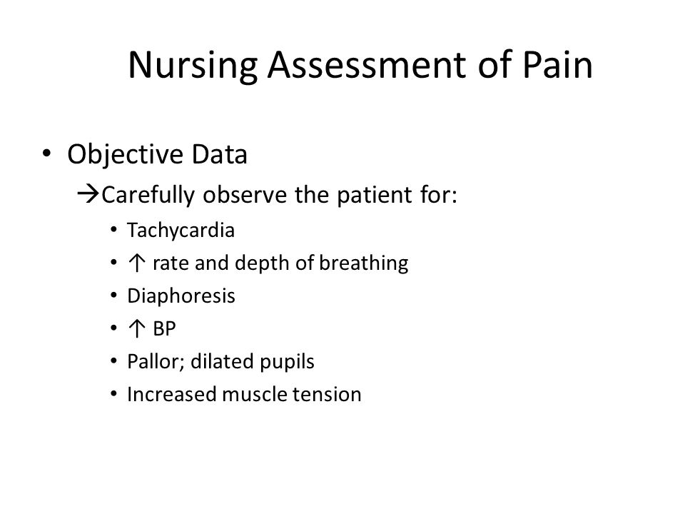 Nursing Assessment of Pain