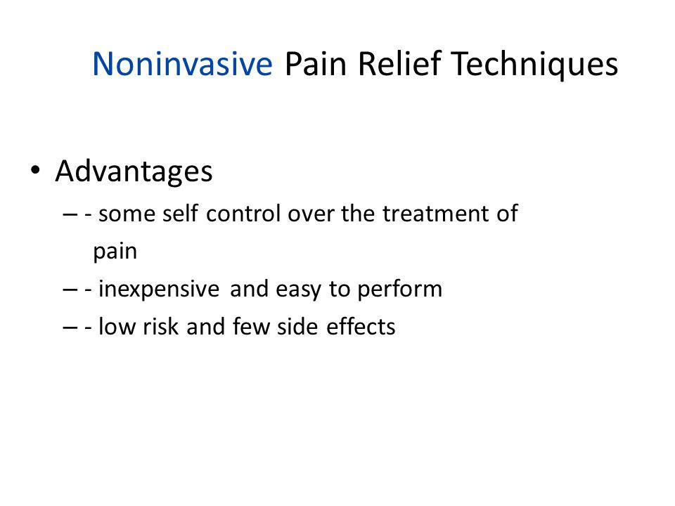 Noninvasive Pain Relief Techniques